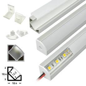 Asennusprofiili led-nauhalle kulmamalli - Profiilit led-nauhoille - 10205040 - 1