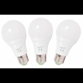 3 x Led-lamppu E27 3000K 350lm 5W - E27 led-lamput - 100300001 - 1