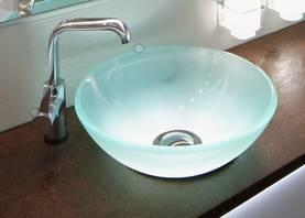 Cariitti lasinen pesuallas ledillä - Itsevalaisevat kylpyhuonekalusteet - 31000001 - 1
