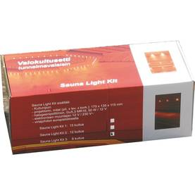 Rinaldo Sauna light kit - valokuitusarja lasikuiduilla - Valokuitusarjat - 11002021 - 1