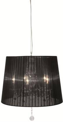 Kattovalaisin Malmbergs Bellagio, muoviprismat, musta varjostin - Kristallivalaisimet ja kattokruunut - 30104052 - 1