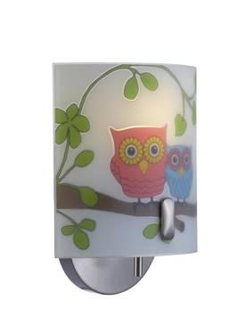 Markslöjd Ugglarp seinävalaisin pöllökuviolla lastenhuoneeseen 104895 7330024532892 - Lasten seinävalaisimet - 30902002 - 1