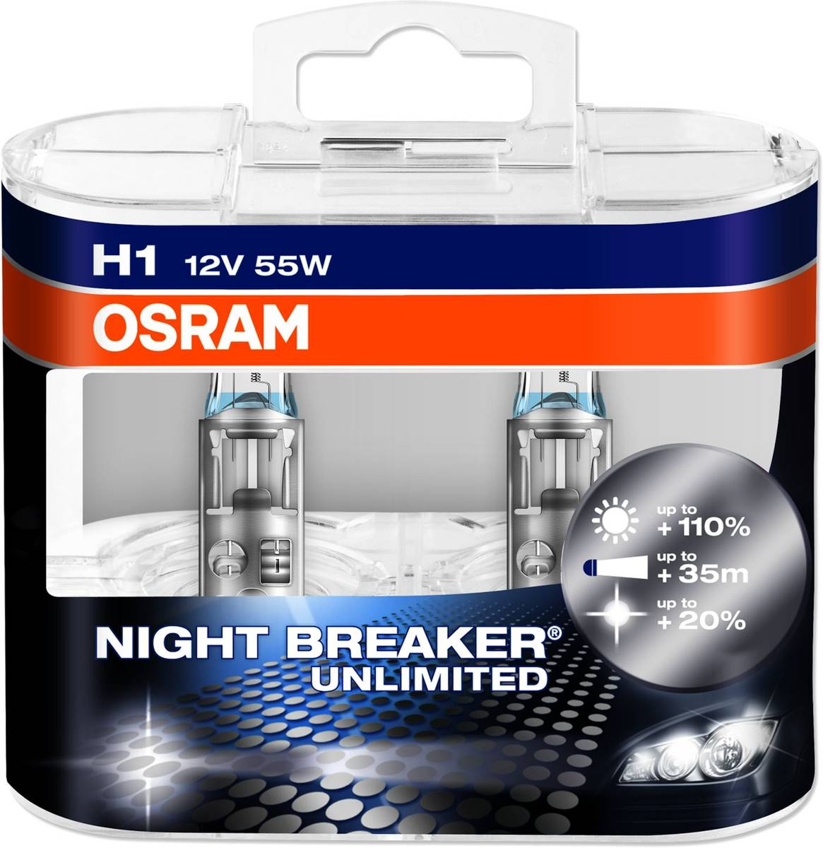 h1 osram night breaker unlimited 110 55w 12v 55w 12v. Black Bedroom Furniture Sets. Home Design Ideas
