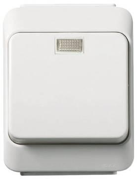 Schneider Artic 6T-kytkin hohtolampulla pinta-asennus IP44 2040226 6410020402267 227219078 - Pinta-asennettavat kytkimet - 60504015 - 1