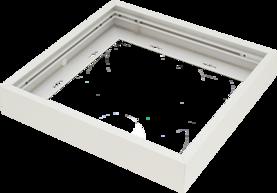 Pinta-asennuskehys Winled Eden 30x30 led-paneelille, valkoinen alumiini - Led-paneelien asennustarvikkeet - 10403005 - 1