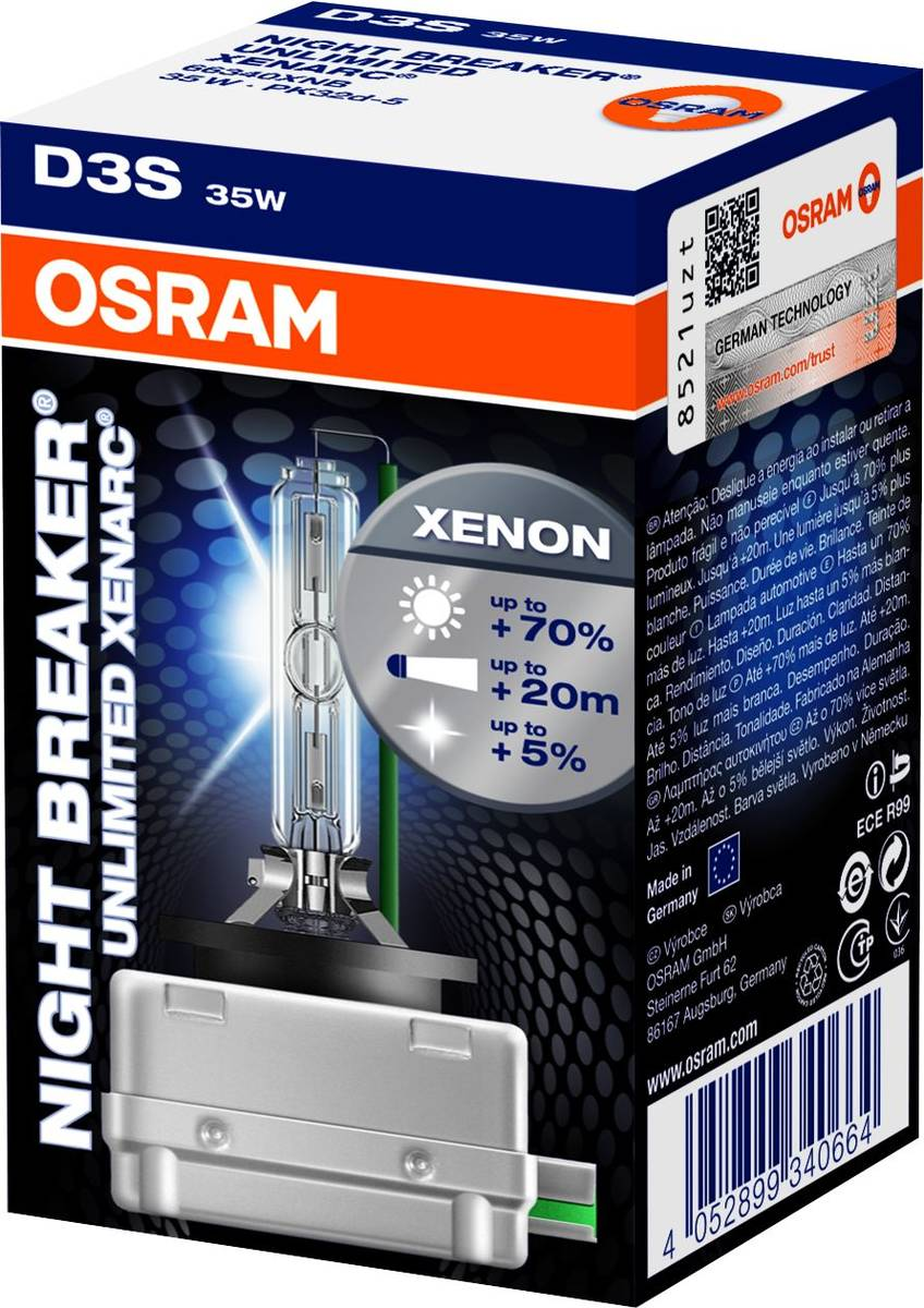 d3s osram xenarc night breaker ul 70 4350k. Black Bedroom Furniture Sets. Home Design Ideas