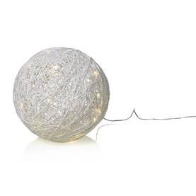 Joulukoriste, koristevalaisin Markslöjd Bollebo, punottu pallo valoilla - Jouluvalot sisälle - 40301017 - 1