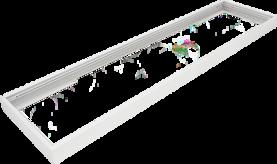 Pinta-asennuskehys Winled Eden 30x120 led-paneelille, valkoinen alumiini - Led-paneelien asennustarvikkeet - 10403007 - 1