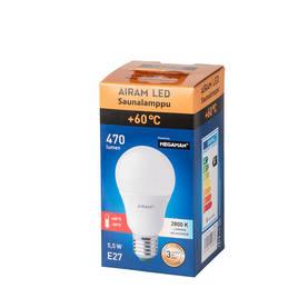 Airam LED saunalamppu E27 A60 5,5W - E27 led-lamput - 100300047 - 1