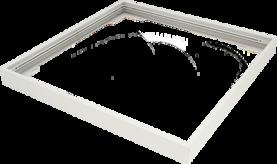 Pinta-asennuskehys Winled Eden 60x60 led-paneelille, valkoinen alumiini - Led-paneelien asennustarvikkeet - 10403008 - 1