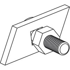 Suunnikasmutterit Moduled-valaisimen kiinnittämiseksi Meka-kiskoon - Valaisinten lisävarusteet - 60804008 - 1
