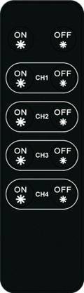 DreamLed RF-kaukosäädin 4-kanavaa ja master on/off RF-himmentimen ohjaamiseen - Langattomat kytkimet & säätimet - 50300009 - 1